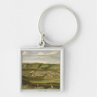 Whitehaven, Cumbria, Showing Flatt Hall, c.1730-35 Silver-Colored Square Keychain
