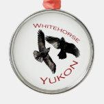 Whitehorse, Yukon Round Metal Christmas Ornament
