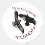 Whitehorse, Yukon Round Stickers
