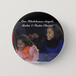 Whitehouse Angels Malia&Sasha Obama Button