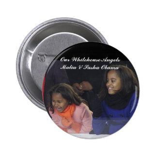 Whitehouse Angels Malia Sasha Obama Pinback Buttons