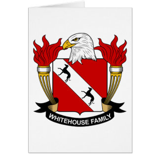 Whitehouse Family Crest Greeting Card