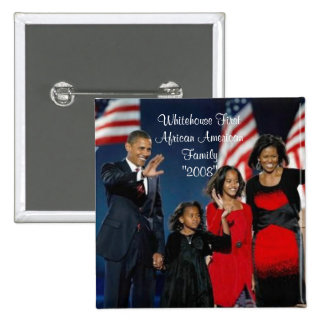 """Whitehouse First African American Family""""... Button"""