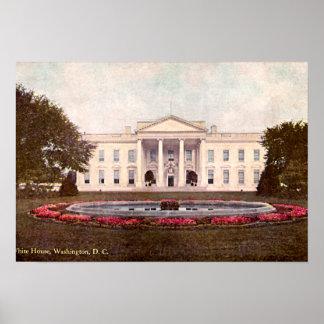Whitehouse Washington DC 1908 Poster