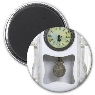 WhiteMantelClock052010 2 Inch Round Magnet