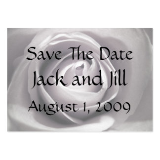 Whiteness, Save The Date Large Business Card