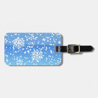 whiteout blue bag tag