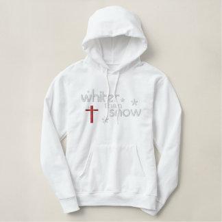 Whiter than Snow Woman's Christian Hoody (white)
