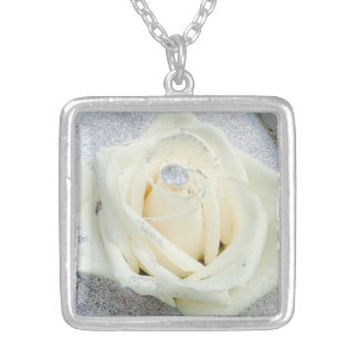whiterose silver plated necklace