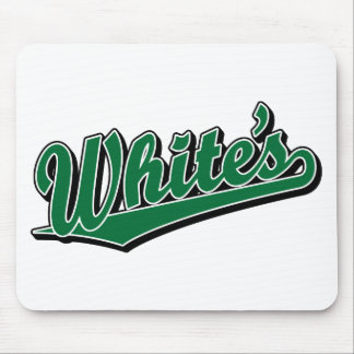 White's in Green Mouse Pad