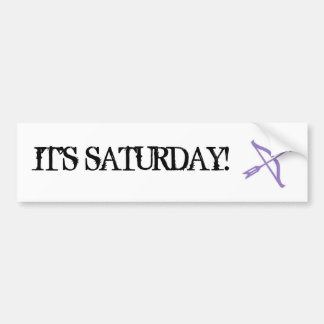 Whitest Kids U' Know - It's Saturday! Bumper Sticker