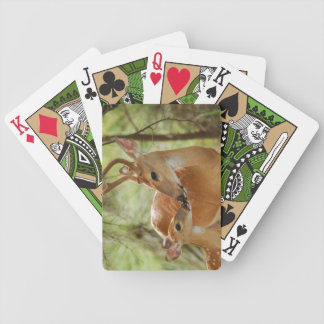 Whitetail Buck And Fawn Bonding Bicycle Playing Cards