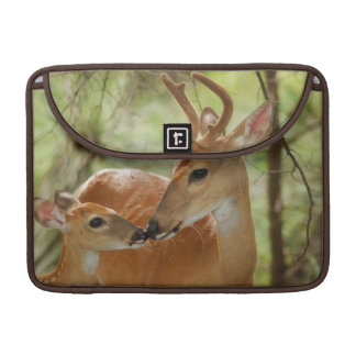 Whitetail Buck And Fawn Bonding Sleeve For MacBook Pro