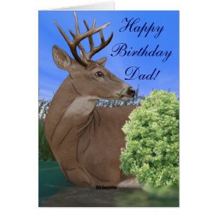 Whitetail deer birthday cards greeting photo cards zazzle whitetail buck deer birthday card bookmarktalkfo Image collections