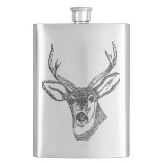 Whitetail Buck Deer Hip Flask