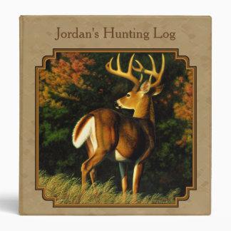 Whitetail Buck Deer Hunting Tan Binder