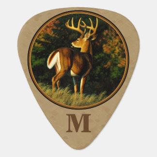Whitetail Buck Deer Hunting Tan Guitar Pick