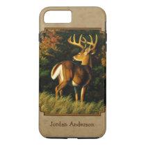 Whitetail Buck Deer Hunting Tan iPhone 8 Plus/7 Plus Case