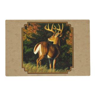 Whitetail Buck Deer Hunting Tan Placemat