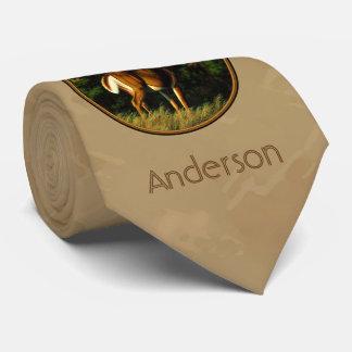 Whitetail Buck Deer Hunting Tan Tie