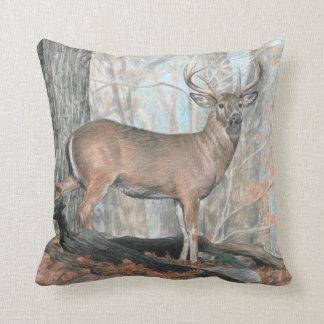 Whitetail Buck Deer Pillow