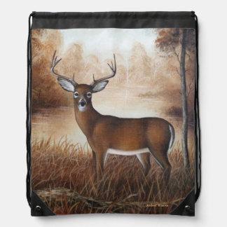 Whitetail Buck Drawstring Bag