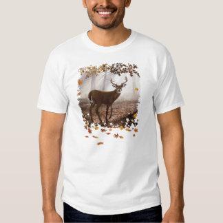 WhiteTail Buck Fall Leaves Shirts