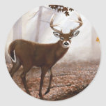 WhiteTail Buck Fall Leaves Stickers