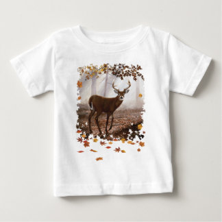 WhiteTail Buck Fall Leaves T-shirts