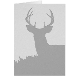 Whitetail Buck Silhouette Card