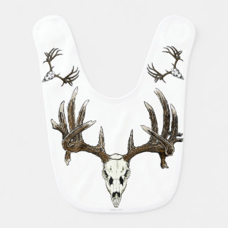 Whitetail buck skull bib