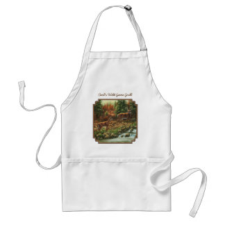 Whitetail Deer and Waterfall Adult Apron