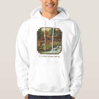 Whitetail Deer and Waterfall Hoodie