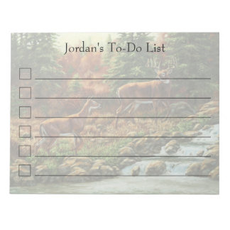 Whitetail Deer and Waterfall Memo Notepad