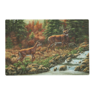 Whitetail Deer and Waterfall Placemat