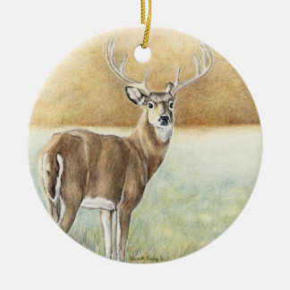Whitetail Deer art Ornament