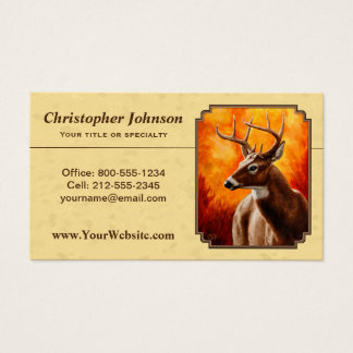 Whitetail Deer Autumn Gold Business Card