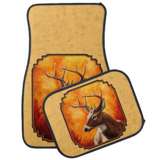 Whitetail Deer Autumn Gold Car Floor Mat