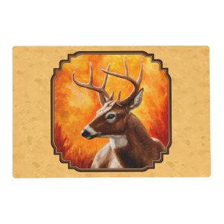 Whitetail Deer Autumn Gold Placemat