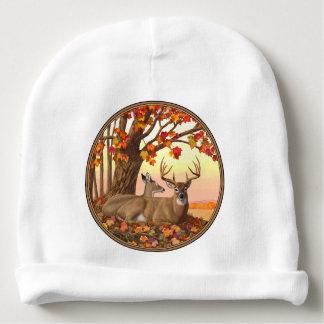 Whitetail Deer Autumn Maple Tree Baby Beanie