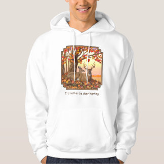 Whitetail Deer Autumn Maple Tree Hoodie