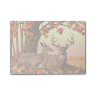 Whitetail Deer Autumn Maple Tree Post-it Notes