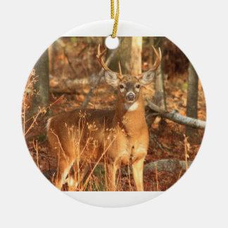 Whitetail Deer Buck Ceramic Ornament