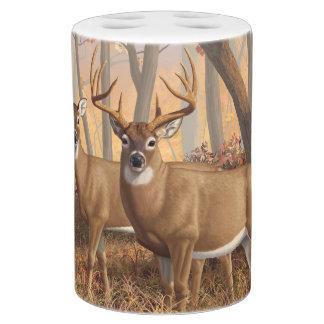 Whitetail Deer Buck U0026amp; Doe Autumn Maple Woods Bathroom Set