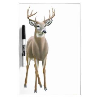 Whitetail Deer Buck Dry Erase Board