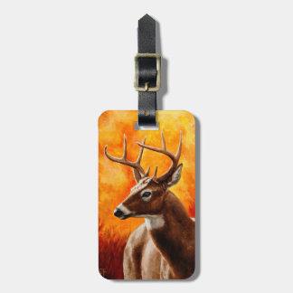 Whitetail Deer Buck Hunting Bag Tag