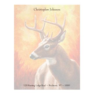 Whitetail Deer Buck Hunting Letterhead