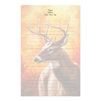 Whitetail Deer Buck Hunting Stationery