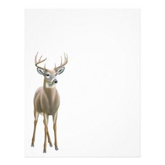 Whitetail Deer Buck Letterhead