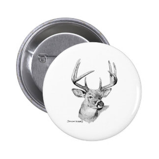 Whitetail Deer Button